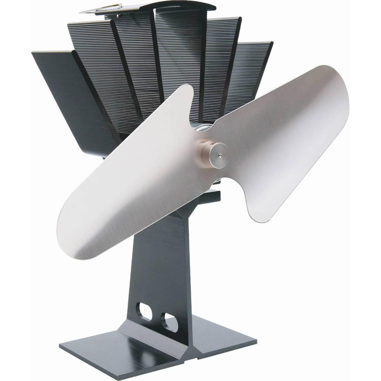 el fuego stromloser kaminventilator aus aluminium schwarz ventilator ofen ebay. Black Bedroom Furniture Sets. Home Design Ideas