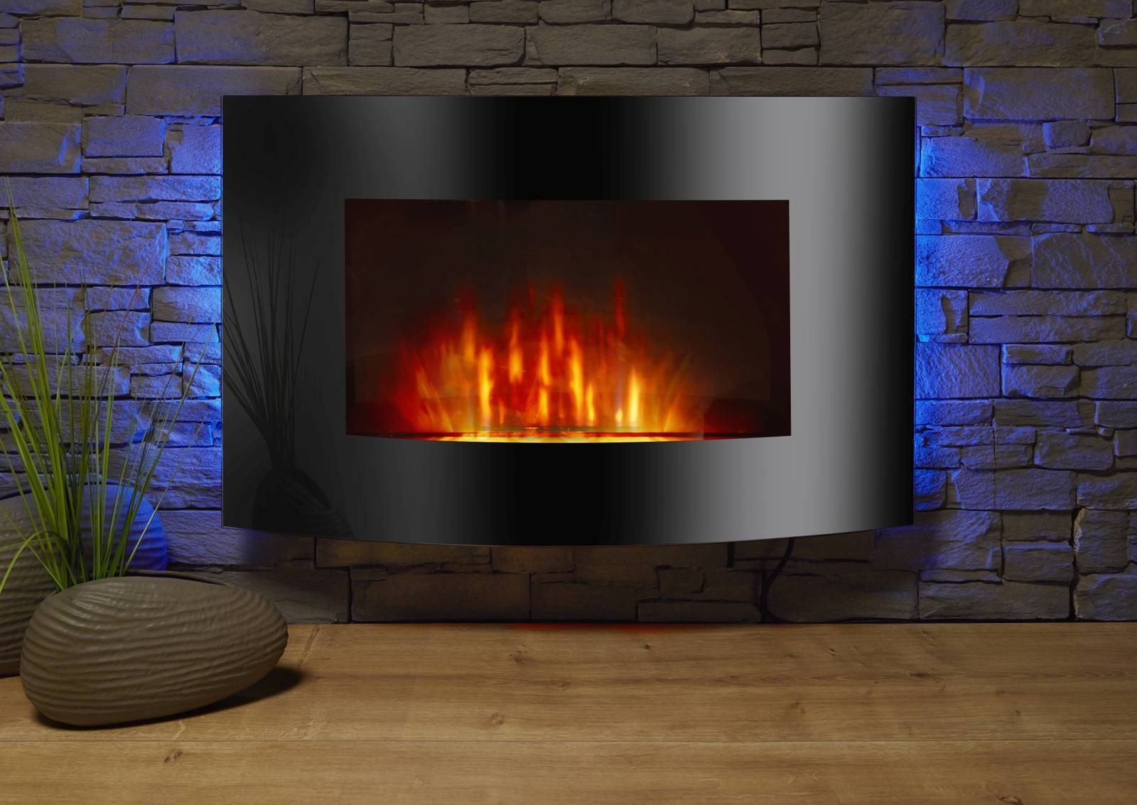 el fuego elektrokamin z rich mit led beleuchtung 2 stufen kamin deko ebay. Black Bedroom Furniture Sets. Home Design Ideas