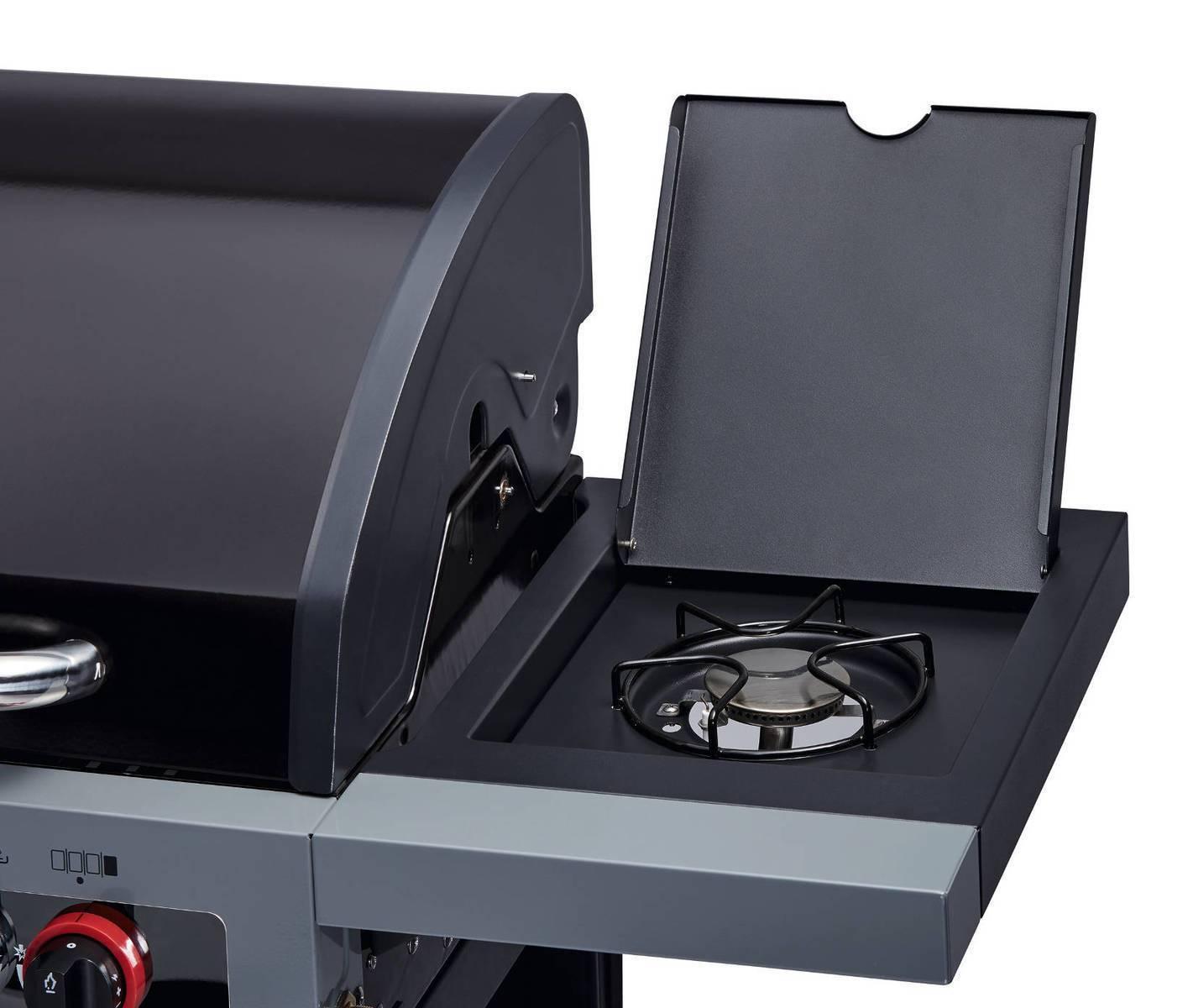 enders gasgrill boston 4 ik black 21 15 kw infrarotbrenner seitenkocher ebay. Black Bedroom Furniture Sets. Home Design Ideas