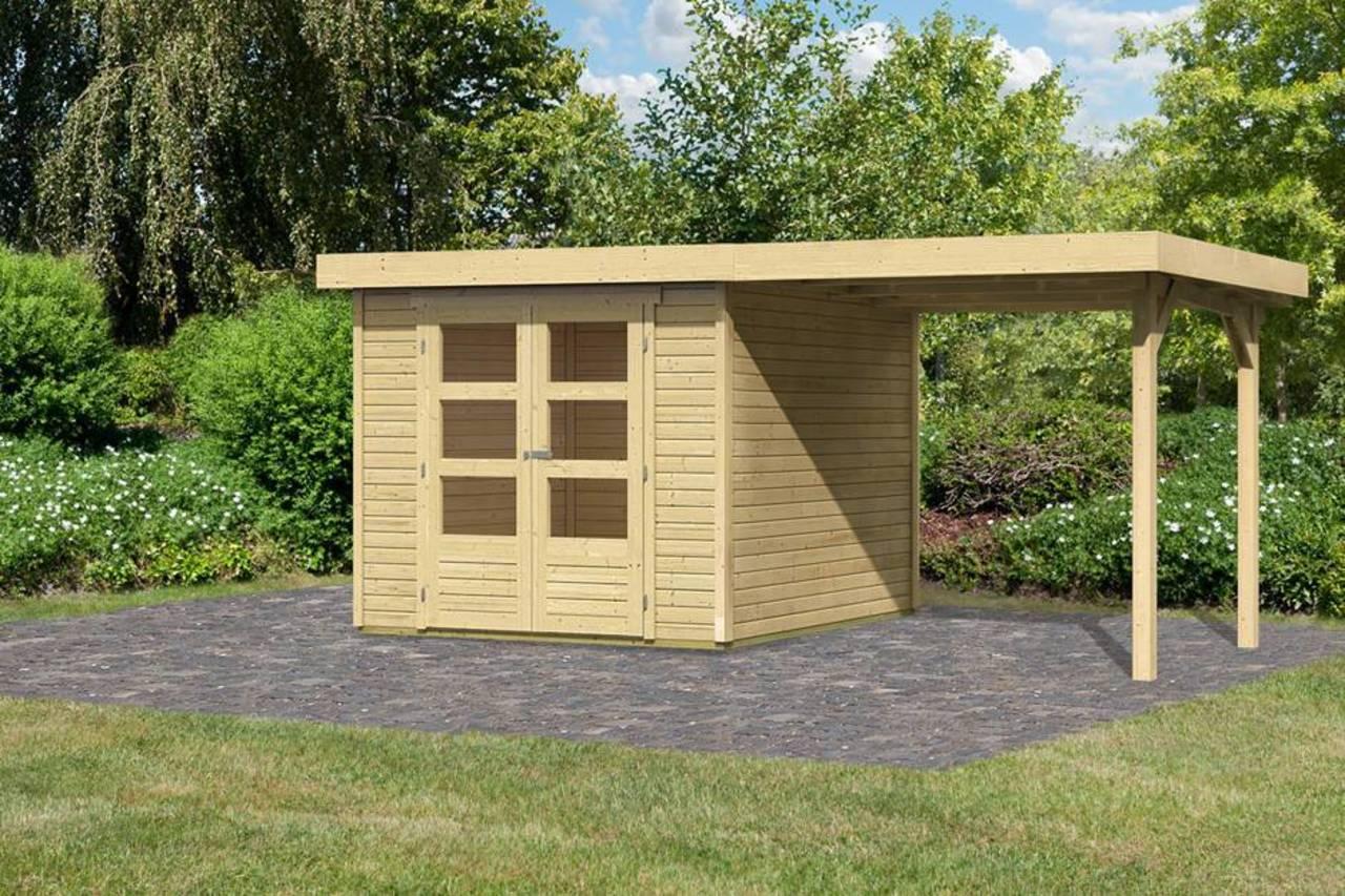 gartenhaus systemhaus arnis 3 242 x 217 cm m schleppdach 220 cm ebay. Black Bedroom Furniture Sets. Home Design Ideas