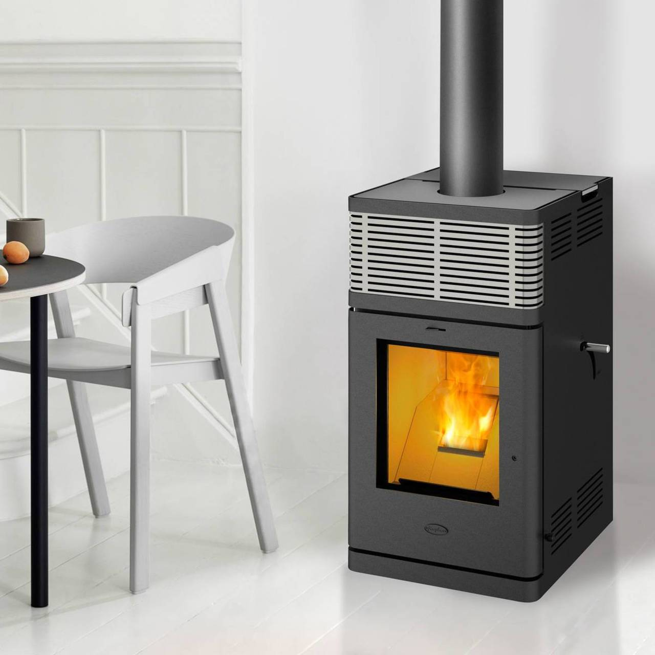 fireplace pelletofen gravio 8 kw strom u ger uschlos ofen kamin pellet ebay. Black Bedroom Furniture Sets. Home Design Ideas