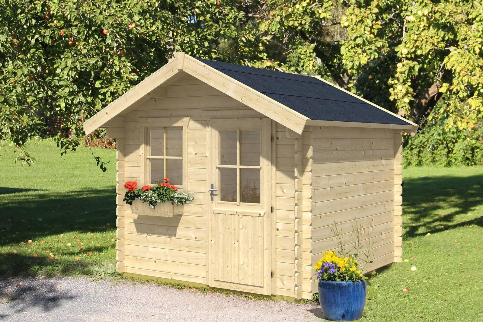 skan holz gartenhaus porto 3 250x300 cm st rke 28mm blockbohlenhaus ebay. Black Bedroom Furniture Sets. Home Design Ideas