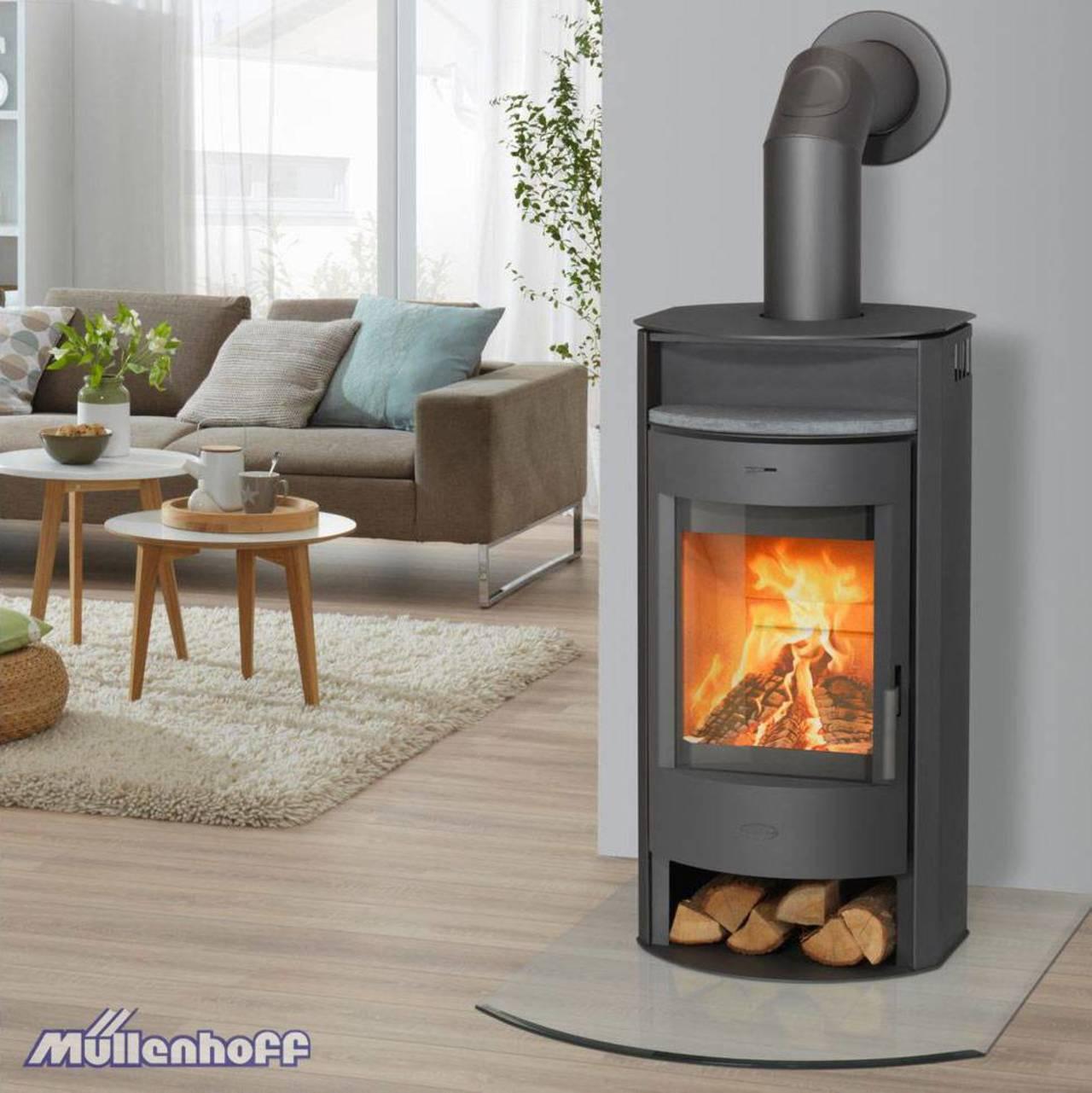 fireplace kaminofen prag 6 kw panorama scheibe kamin ofen holz ebay. Black Bedroom Furniture Sets. Home Design Ideas