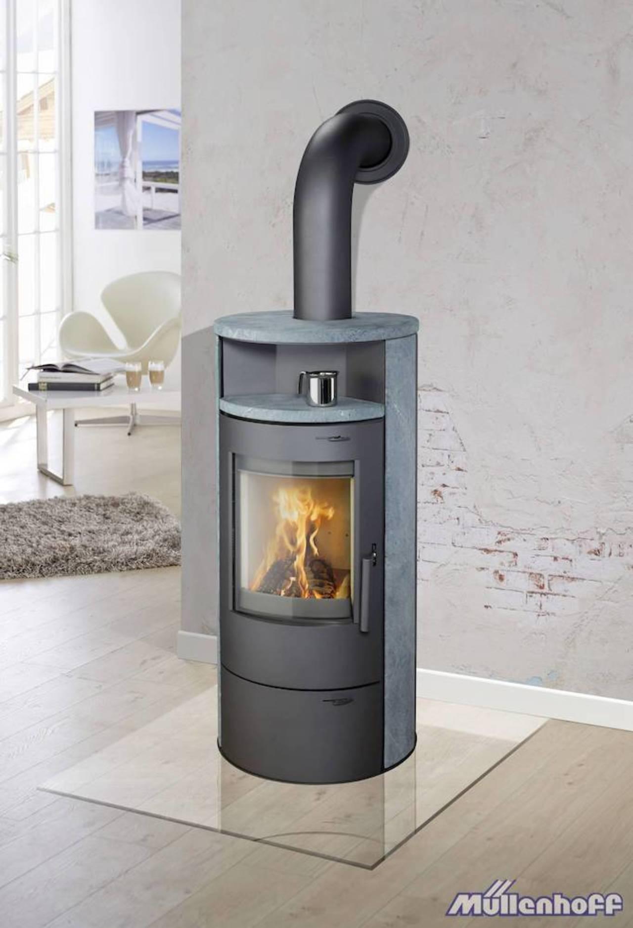 thermia kaminofen m nchen mit naturstein 7 kw dauerbrand automatik ofen ebay. Black Bedroom Furniture Sets. Home Design Ideas
