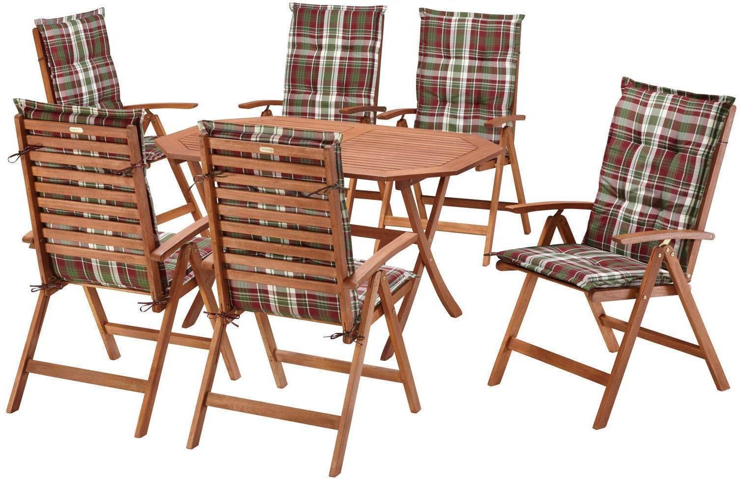 gartenm bel set borkum 13 teilig tisch 135x85 cm inkl auflagen 4029686256095 ebay. Black Bedroom Furniture Sets. Home Design Ideas